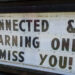 "A message board outside of a school, stating, ""Stay connected & keep learning online! We miss you!"""