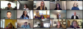 2020-2021 Advisory Council during a videoconference