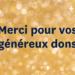 Merci pour vos généreux dons Mardi Je Donne 2019