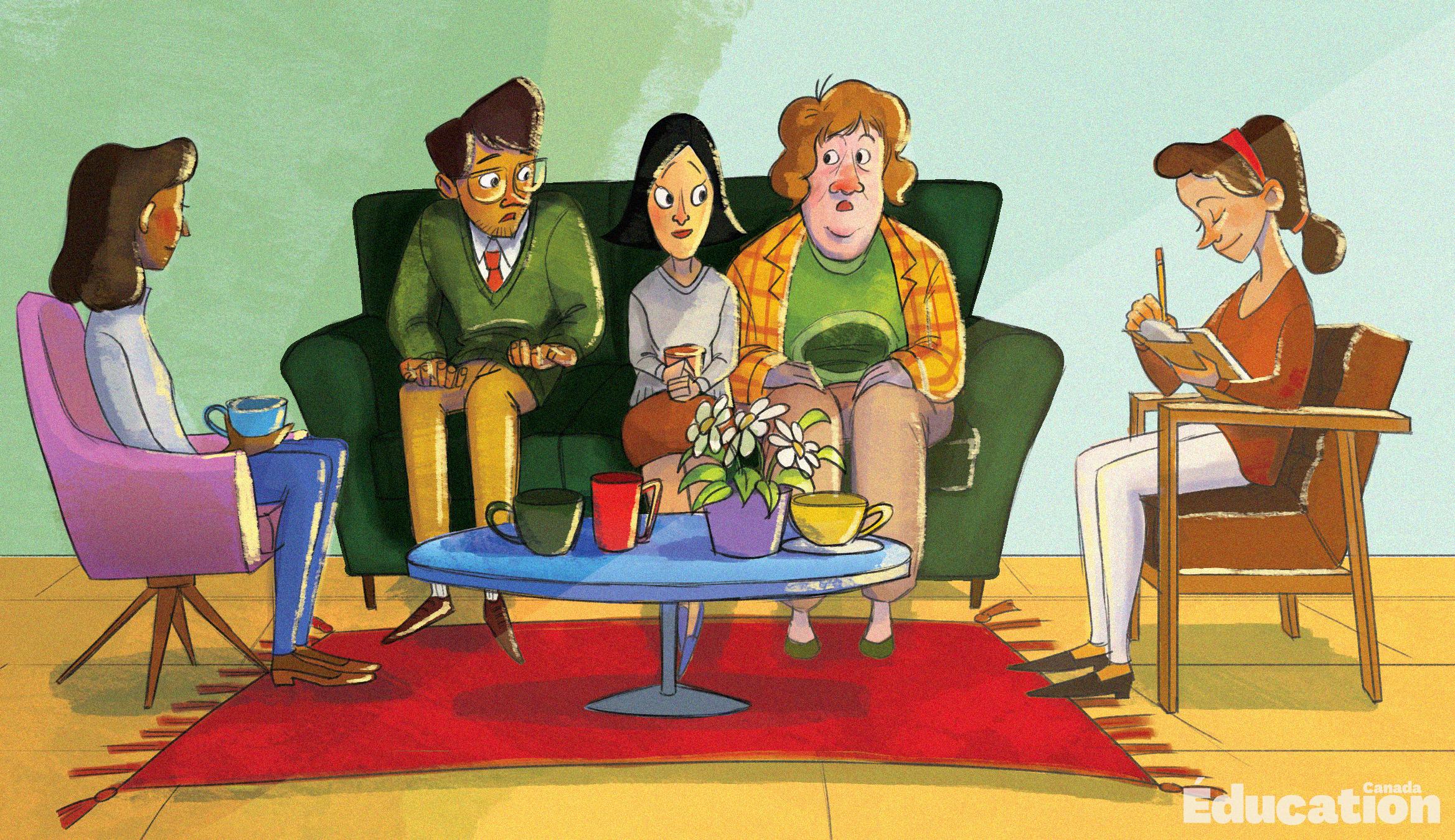 soutien social en contexte scolaire - groupe qui discute
