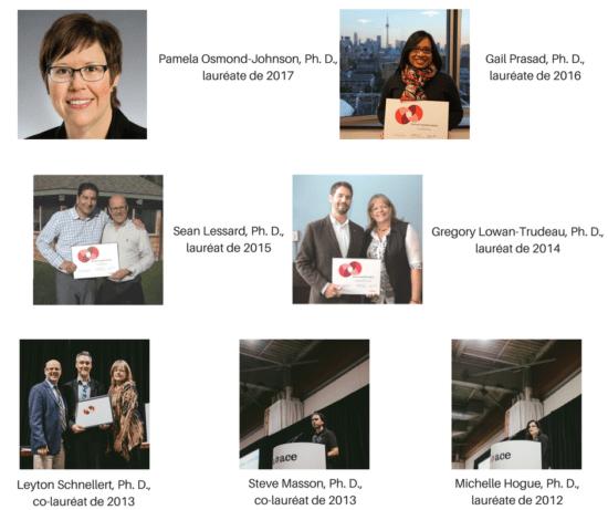 Lauréats Prix Pat-Clifford