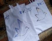 A photo of reusable bags.