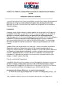 PROFIL D'UN POSTE À L'ASSOCIATION CANADIENNE D'ÉDUCATION/AU RÉSEAU ÉDCAN