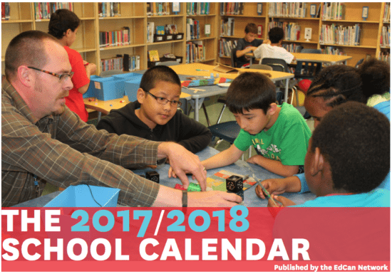2017-2018 School Calendar Education Canada