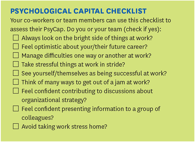 Psychological Capital Checklist