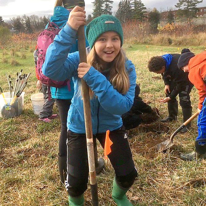 A thousand trees will be planted in New Brunswick, thanks to ten-year-old Mackenzie Klinker.
