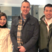 Kirk Linton with his Japanese colleagues at the end of a school cultural exchange.