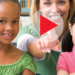 Teacher with two students pointing at a play button